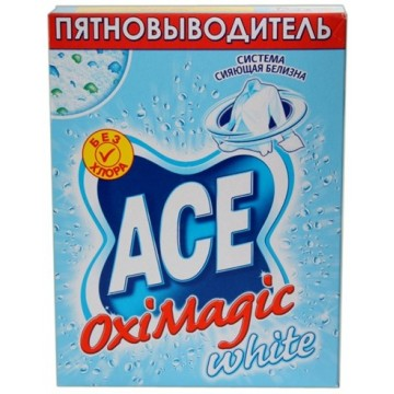 Пятновыводитель ACE Oxi Magic White (500 гр)