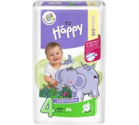 Подгузники Bella Baby Happy Размер 4 Maxi 8-18 кг (66 шт)
