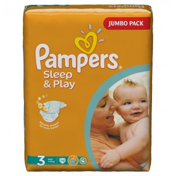 Подгузники Pampers - Sleep & Play Midi (4-9 кг), 78 шт.