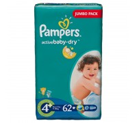 Подгузники Pampers - Active Baby Maxi Plus (9-16 кг), 62 шт.