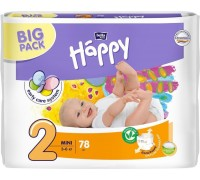 Подгузники Bella Baby Happy Размер 2 Mini 3-6 кг (78 шт)