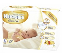 Подгузники Huggies Elite Soft 2 Conv 4-7кг (27 шт)